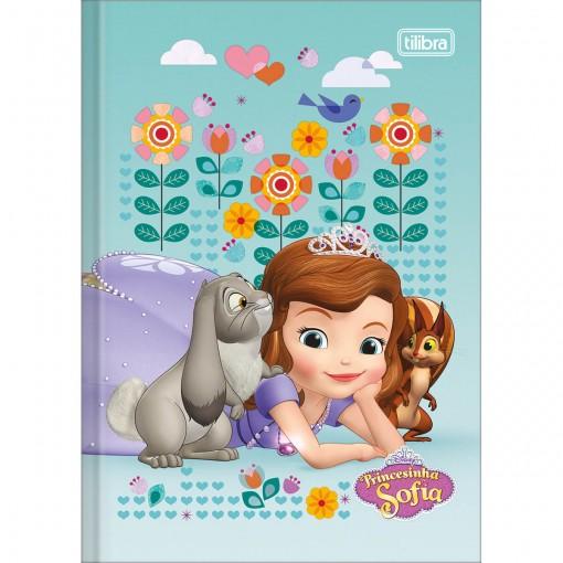 Caderno Brochura Capa Dura 1/4 Princesinha Sofia 48 Folhas (Pacote com 5 unidades) - Sortido