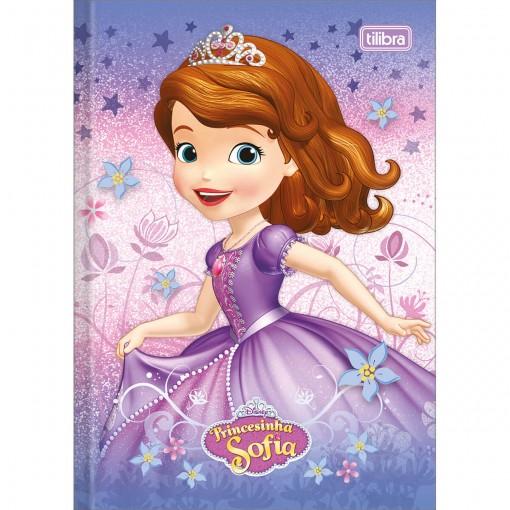 Caderno Brochura Capa Dura 1 4 Princesinha Sofia 96 Folhas Pacote