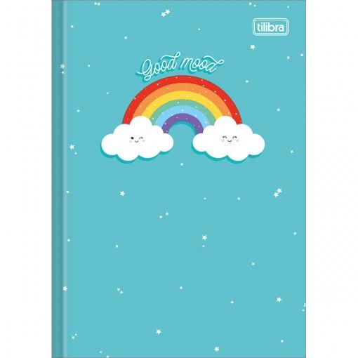 Caderno Brochura Capa Dura 1/4 Rainbow 80 Folhas (Pacote com 5 unidades) - Sortido
