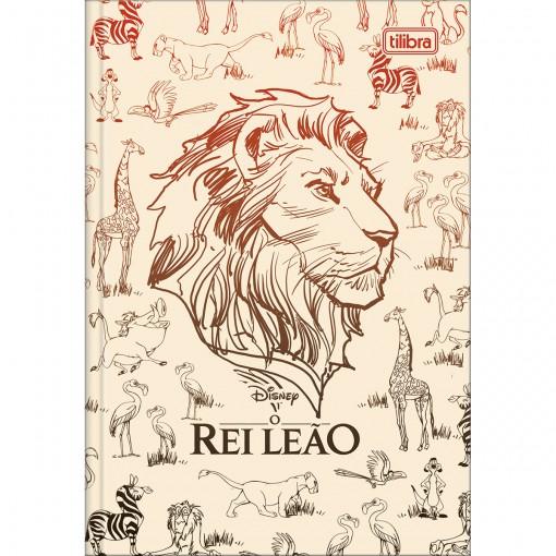 Caderno Brochura Capa Dura 1/4 Rei Leão 80 Folhas (Pacote com 5 unidades) - Sortido