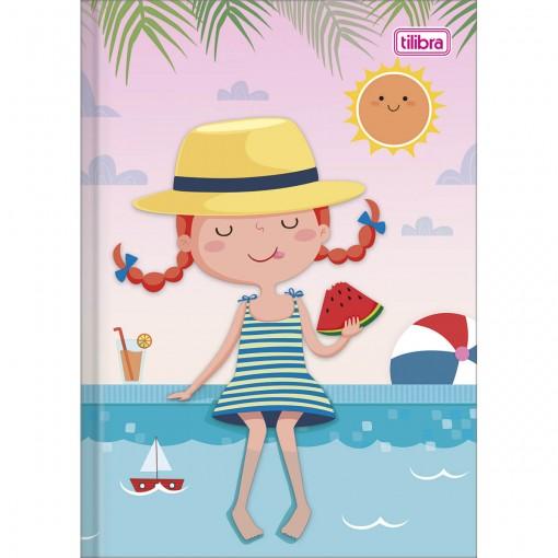 Caderno Brochura Capa Dura 1/4 Sapeca Feminino 96 Folhas (Pacote com 10 unidades) - Sortido