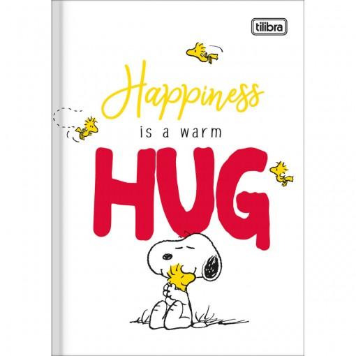 Caderno Brochura Capa Dura 1/4 Snoopy 80 Folhas (Pacote com 5 unidades) - Sortido