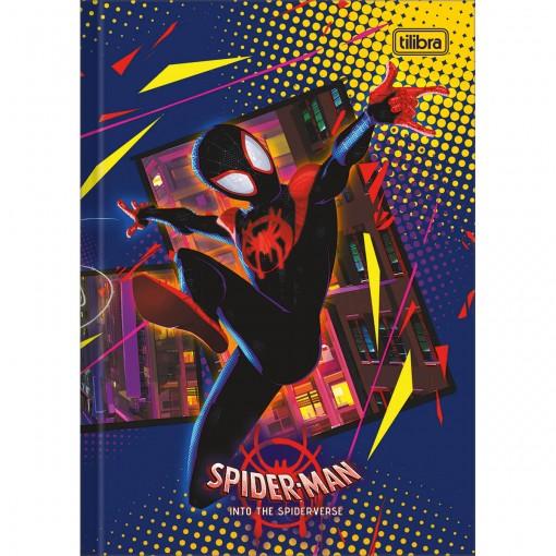 Caderno Brochura Capa Dura 1/4 Spider-Man: Into the Spider-Verse 80 Folhas (Pacote com 5 unidades) - Sortido