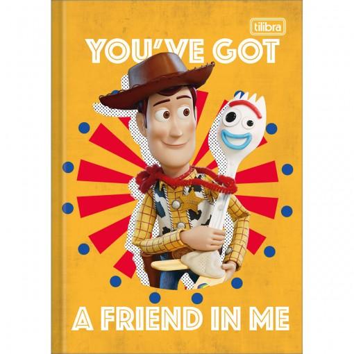 Caderno Brochura Capa Dura 1/4 Toy Story 80 Folhas (Pacote com 5 unidades) - Sortido