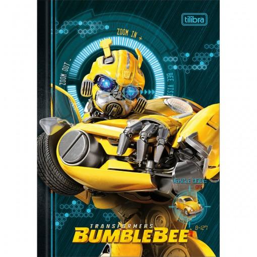 Caderno Brochura Capa Dura 1/4 Transformers 80 Folhas - Sortido (Pacote com 5 unidades)
