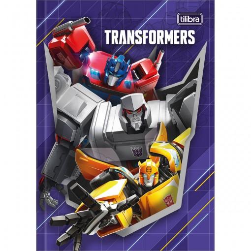 Caderno Brochura Capa Dura 1/4 Transformers 80 Folhas (Pacote com 5 unidades) - Sortido