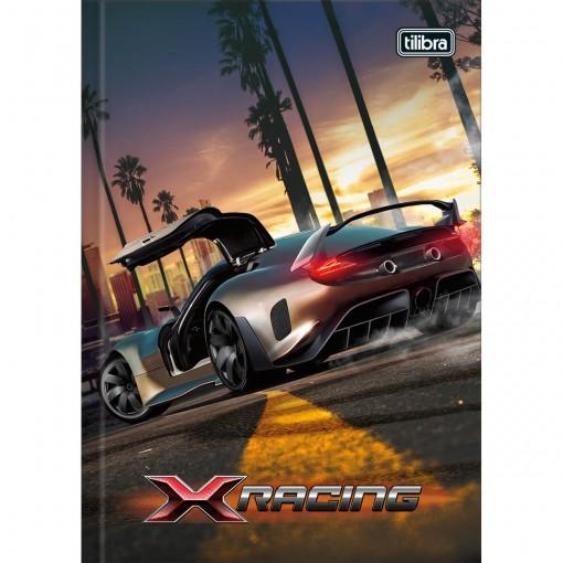 Caderno Brochura Capa Dura 1/4 X-Racing 48 Folhas - Sortido (Pacote com 15 unidades)