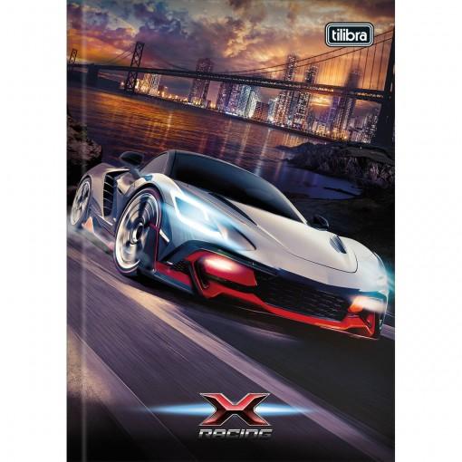 Caderno Brochura Capa Dura 1/4 X-Racing 80 Folhas (Pacote com 5 unidades) - Sortido