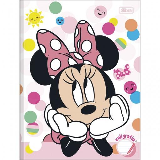 Caderno Brochura Capa Dura Caligrafia Minnie 40 Folhas (Pacote com 5 unidades) - Sortido