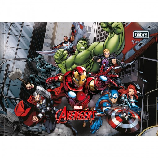 Caderno Brochura Capa Dura Desenho Avengers 40 Folhas - Sortido (Pacote com 5 unidades)