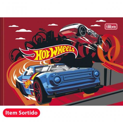 Caderno Brochura Capa Dura Desenho Hot Wheels 40 Folhas - Sortido