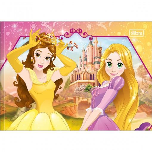 Caderno Brochura Capa Dura Desenho Princesas 40 Folhas - Sortido (Pacote com 5 unidades)