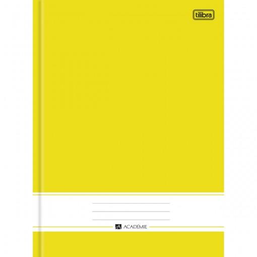 Caderno Brochura Capa Dura Universitário Académie Amarelo 96 Folhas