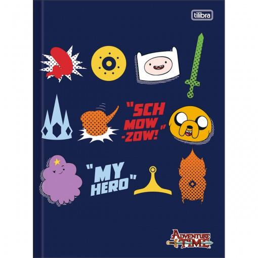 Caderno Brochura Capa Dura Universitário Adventure Time 96 Folhas - Sortido (Pacote com 5 unidades)