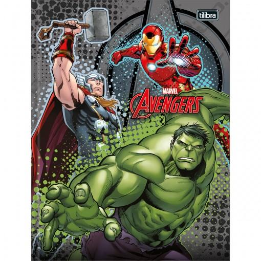Caderno Brochura Capa Dura Universitário Avengers 96 Folhas - Sortido (Pacote com 5 unidades)