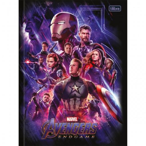 Caderno Brochura Capa Dura Universitário Avengers Endgame 80 Folhas (Pacote com 5 unidades) - Sortido