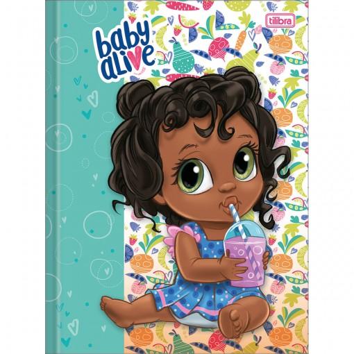 Caderno Brochura Capa Dura Universitário Baby Alive 80 Folhas Pacote Com 5 Unidades Sortido
