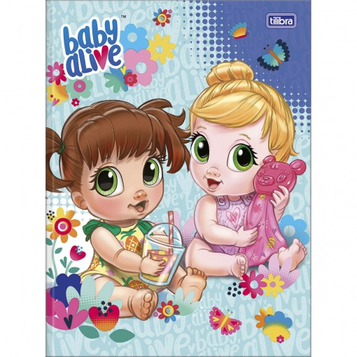 Caderno Brochura Capa Dura Universitário Baby Alive 80 Folhas - Sortido