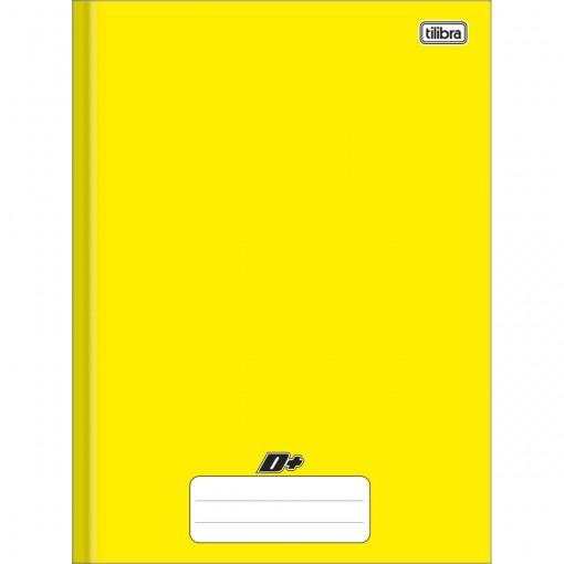 Caderno Brochura Capa Dura Universitário D+ Amarelo 96 Folhas