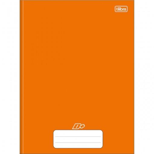 Caderno Brochura Capa Dura Universitário D+ Laranja 48 Folhas