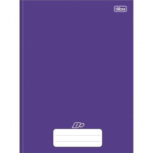 Caderno Brochura Capa Dura Universitário D+ Roxo 48 Folhas