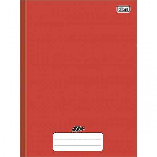 Caderno Brochura Capa Dura Universitário D+ Vermelho 48 Folhas