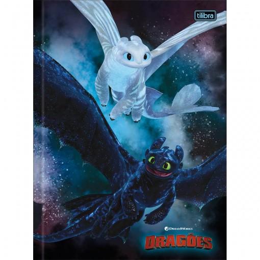 Caderno Brochura Capa Dura Universitário Dragões 80 Folhas (Pacote com 5 unidades) - Sortido