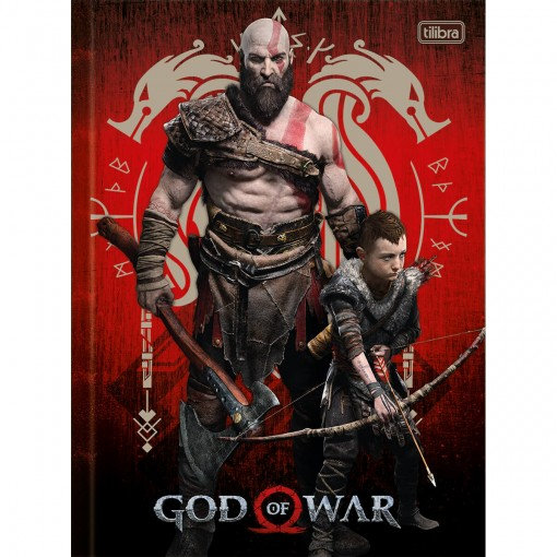 Caderno Brochura Capa Dura Universitário God of War 80 Folhas (Pacote com 5 unidades) - Sortido