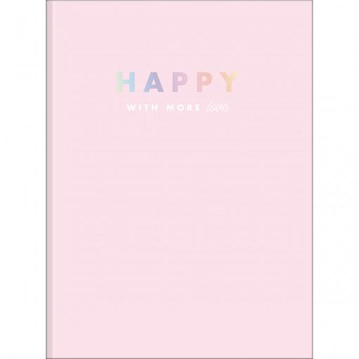 Caderno Brochura Capa Dura Universitário Happy 48 Folhas (Pacote com 5 unidades) - Sortido