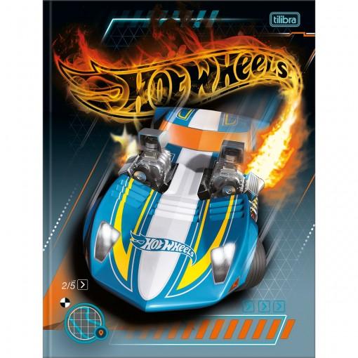 Caderno Brochura Capa Dura Universitário Hot Wheels 80 Folhas - Carro Azul - Sortido