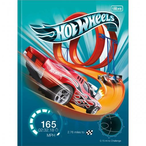 Caderno Brochura Capa Dura Universitário Hot Wheels 80 Folhas (Pacote com 5 unidades) - Sortido