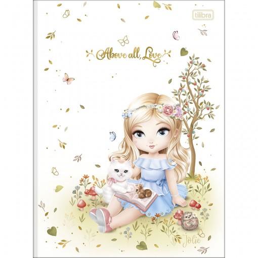 Caderno Brochura Capa Dura Universitário Jolie 80 Folhas (Pacote com 5 unidades) - Sortido