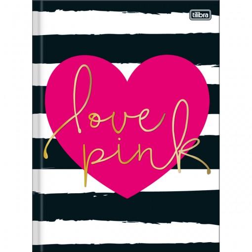 Caderno Brochura Capa Dura Universitário Love Pink 48 Folhas - Sortido