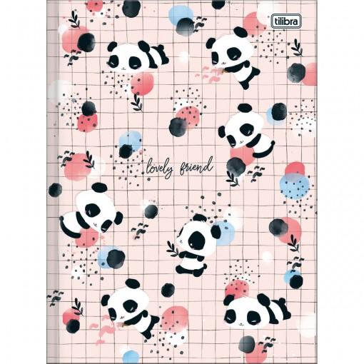 Caderno Brochura Capa Dura Universitário Lovely Friend 80 Folhas (Pacote com 5 unidades) - Sortido
