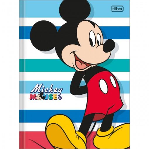 Caderno Brochura Capa Dura Universitário Mickey 80 Folhas (Pacote com 5 unidades) - Sortido