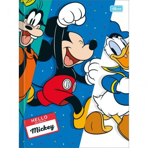 Caderno Brochura Capa Dura Universitário Mickey 96 Folhas (Pacote com 5 unidades) - Sortido