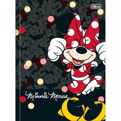 Caderno Brochura Capa Dura Universitário Minnie 48 Folhas (Pacote com 5 unidades) - Sortido