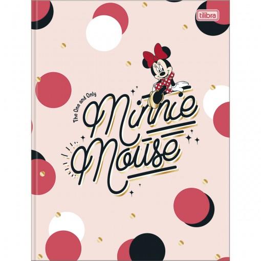 Caderno Brochura Capa Dura Universitário Minnie 80 Folhas (Pacote com 5 unidades) - Sortido