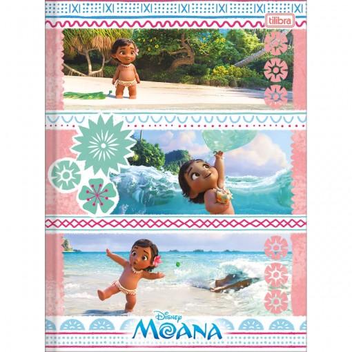 Caderno Brochura Capa Dura Universitário Moana 48 Folhas - Sortido (Pacote com 5 unidades)