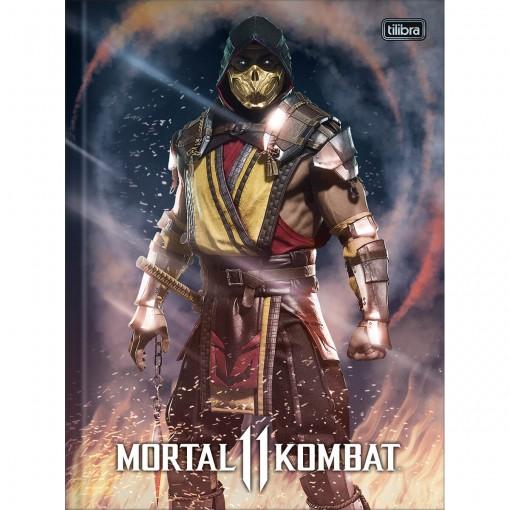 Caderno Brochura Capa Dura Universitário Mortal Kombat 80 Folhas (Pacote com 5 unidades) - Sortido
