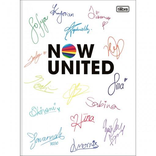 Caderno Brochura Capa Dura Universitário Now United 80 Folhas - Autógrafos - Sortido