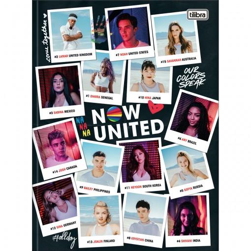 Caderno Brochura Capa Dura Universitário Now United 80 Folhas - Fotografias - Sortido