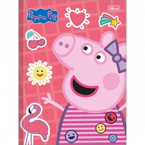 Caderno Brochura Capa Dura Universitário Peppa Pig 80 Folhas (Pacote com 5 unidades) - Sortido