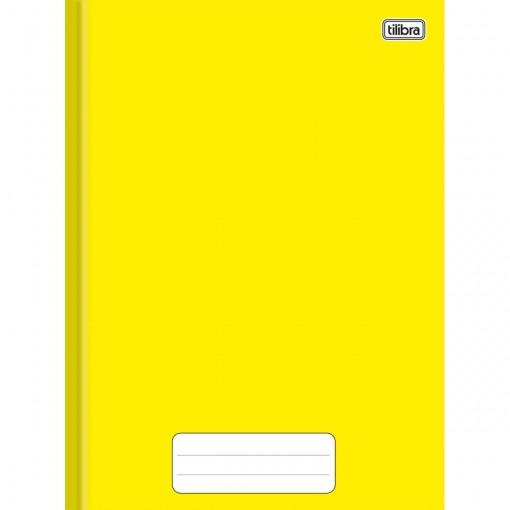 Caderno Brochura Capa Dura Universitário Pepper Amarelo 60 Folhas