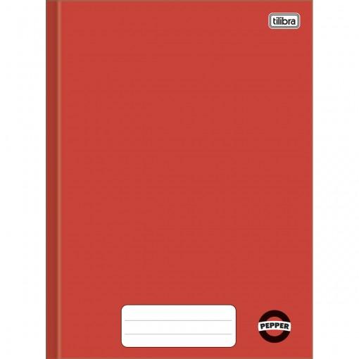Caderno Brochura Capa Dura Universitário Pepper Vermelho 80 Folhas