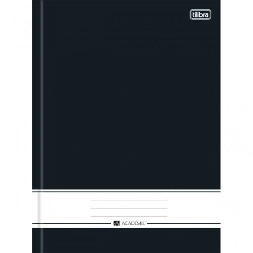 Caderno Brochura Capa Dura Universitário Preto Académie  96 Folhas