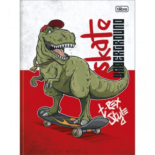 Caderno Brochura Capa Dura Universitário Raptor 80 Folhas - Skateboard - Sortido