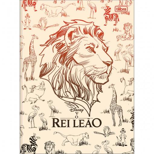 Caderno Brochura Capa Dura Universitário Rei Leão 80 Folhas (Pacote com 5 unidades) - Sortido