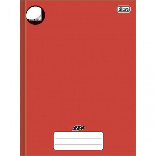 Caderno Brochura Capa Dura Universitário sem Pauta D+ Vermelho 96 Folhas