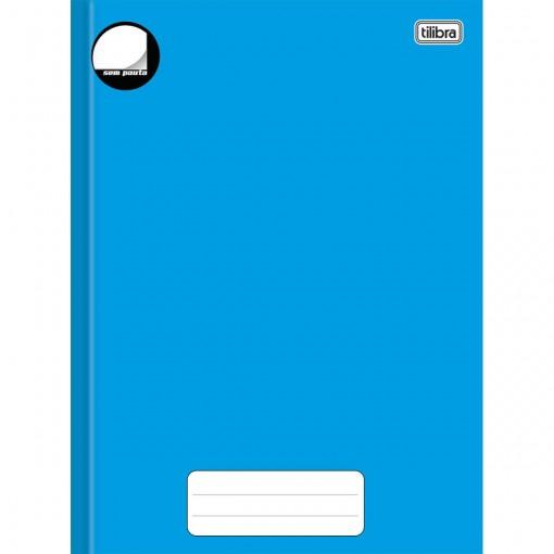 Caderno Brochura Capa Dura Universitário sem Pauta Pepper Azul 80 Folhas